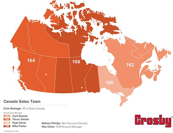 Gunnebo Johnson Territory Map Canada
